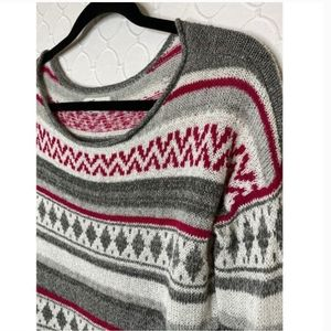 Hollister Fair Isle Boxy Pullover Sweater